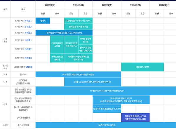 행사일정표
